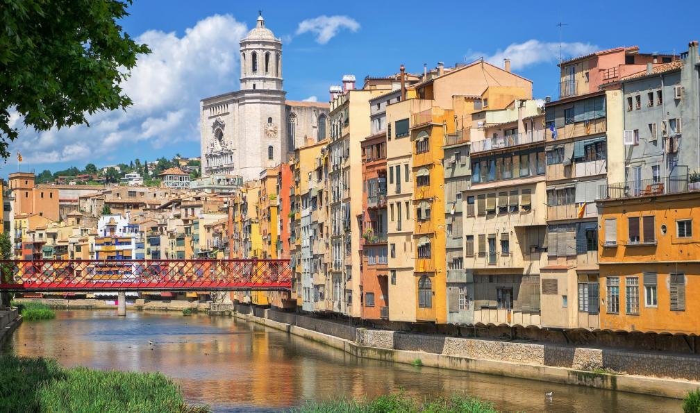 Image Catalogne à vélo, entre pyrénées et méditerranée