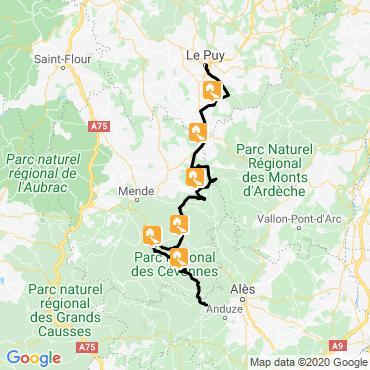 Itinéraire Le trail de stevenson