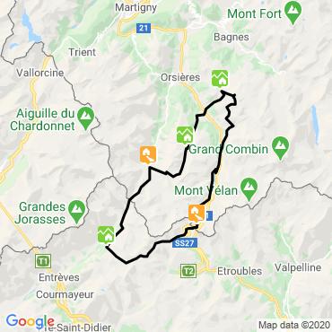 Itinéraire Tour du pays du saint bernard