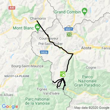 Itinéraire Les paradis du val d'aoste