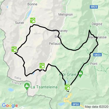 Itinéraire Le tour du parc du grand-paradis