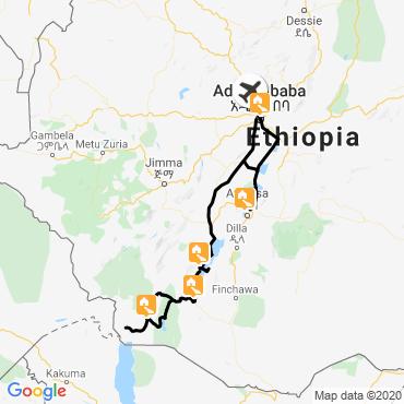 Itinéraire Tribus de la vallée de l'omo