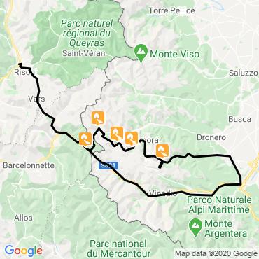 Itinéraire Le piémont occitan