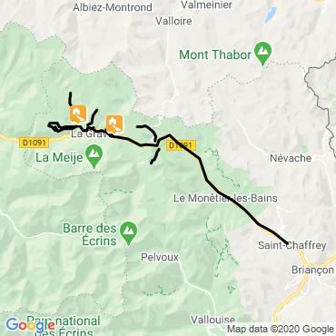 Itinéraire Au pays de la meije