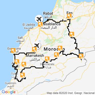 Itinéraire Kaléidoscope marocain