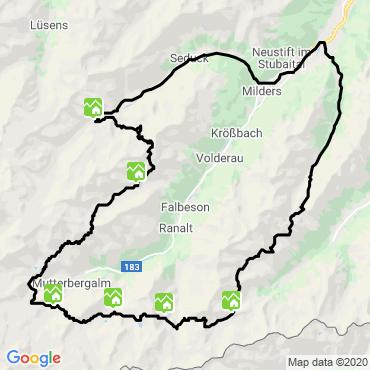 Itinéraire Tour du stubai