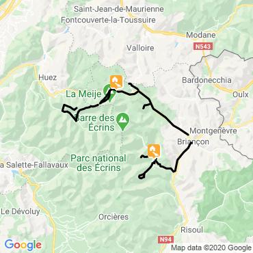 Itinéraire Les plus belles descentes à ski des ecrins