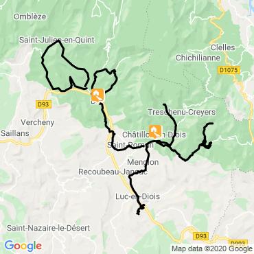 Itinéraire Au fil de la drôme à vélo
