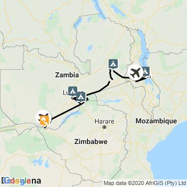 Itinéraire Des chutes victoria au lac malawi
