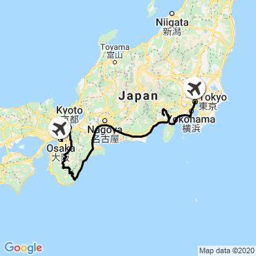 Itinéraire Le japon des hauteurs