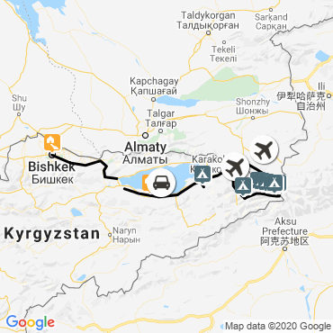 Itinéraire Trek des glaciers du khan tengri (7010 m)