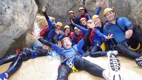 Image Les canyons de la roya en famille
