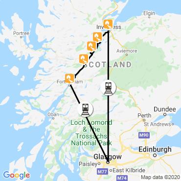 Itinéraire L'allée des lacs écossais à vélo