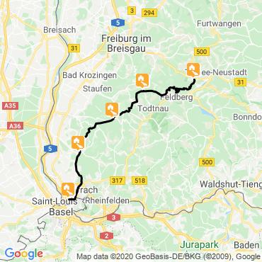 Itinéraire Traversée de la forêt-noire