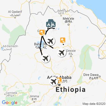 Itinéraire Grand trek du simien et lalibela