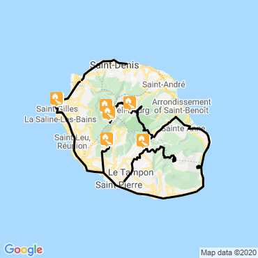 Itinéraire Volcans de l'océan indien