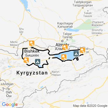 Itinéraire Petits baroudeurs nomades