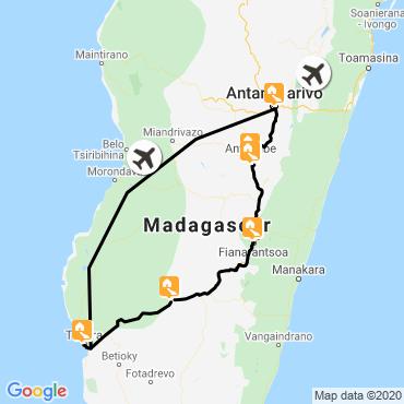 Itinéraire Le grand sud malgache