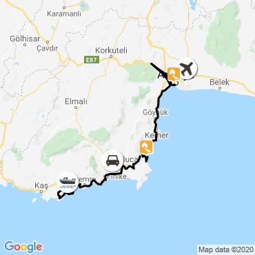 Itinéraire La côte lycienne