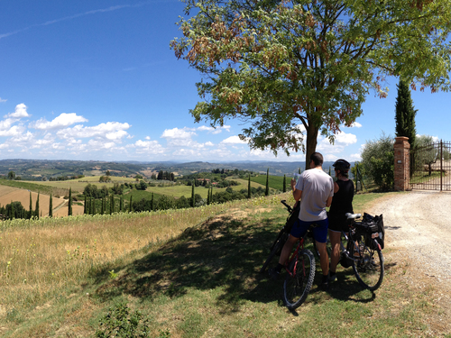 Image La toscane à vélo en famille