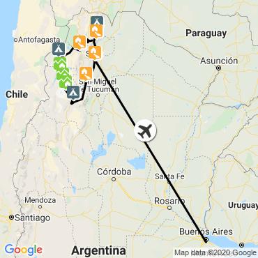 Itinéraire Trésors cachés du nord-ouest argentin