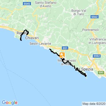 Itinéraire Trail des cinque terre et portofino