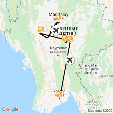 Itinéraire Les chemins du pays shan