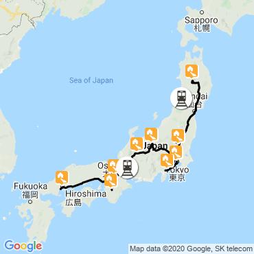 Itinéraire Féerie japonaise