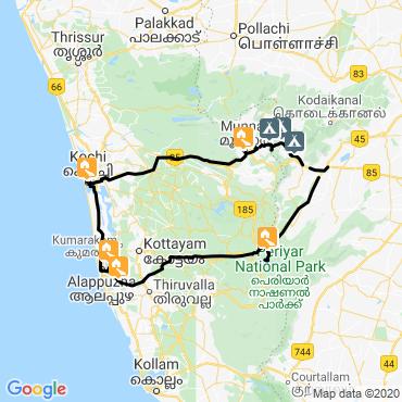 Itinéraire Kerala, trek entre épices et canaux