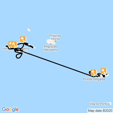 Itinéraire Les îles arc-en-ciel