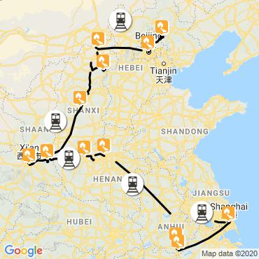 Itinéraire Splendeurs de la chine orientale