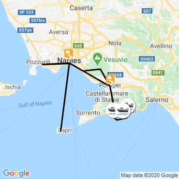 Itinéraire Naples et pompéi, vestiges et volcans