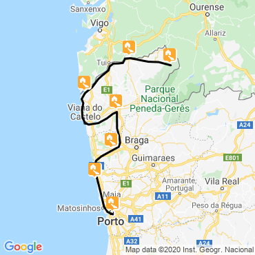 Itinéraire De minho à porto à vélo