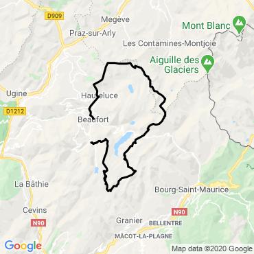 Itinéraire Le trail du beaufortain