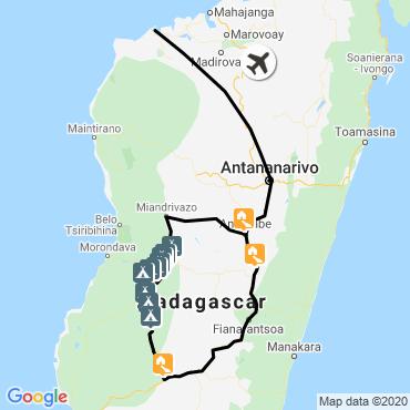 Itinéraire La grande traversée du makay