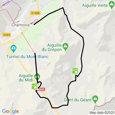 Itinéraire La vallée blanche