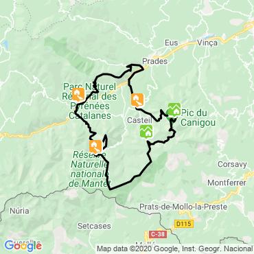 Itinéraire Le tour du canigou