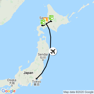Itinéraire La poudreuse légendaire d'hokkaido