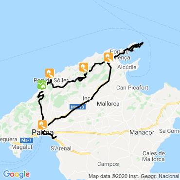 Itinéraire La traversée des montagnes de majorque