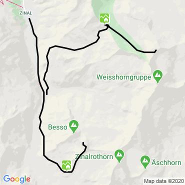 Itinéraire La couronne impériale : le bishorn (4153 m)