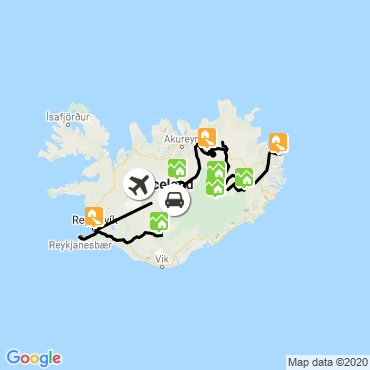 Itinéraire L'islande des hautes terres