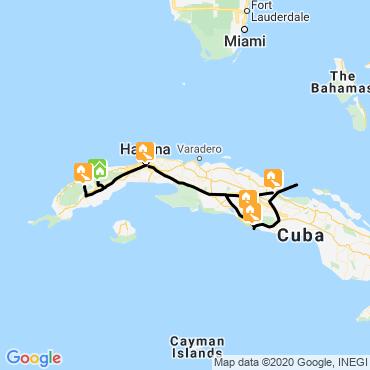 Itinéraire Sentiers cubains