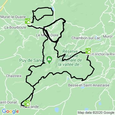 Itinéraire Le tour du massif du sancy
