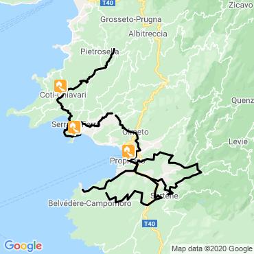 Itinéraire Vélo et rando en corse
