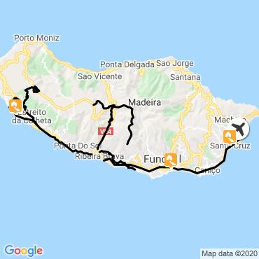 Itinéraire Rando et baignade sur la côte sud