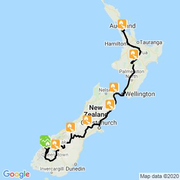 Itinéraire Trek en terre maorie