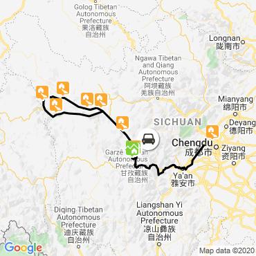 Itinéraire Au pays des khampas