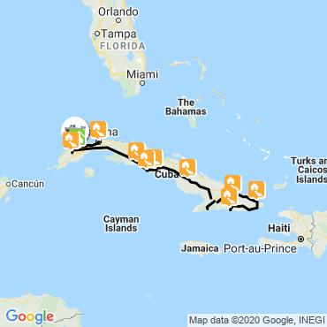 Itinéraire La perle des tropiques