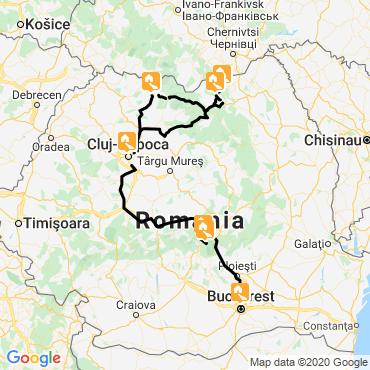 Itinéraire Le grand tour de roumanie et bucarest