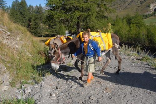 Image Le queyras avec mon âne